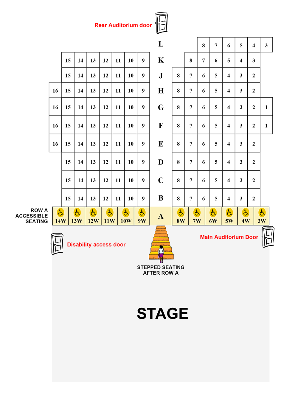 YPT Theatre Seating plan