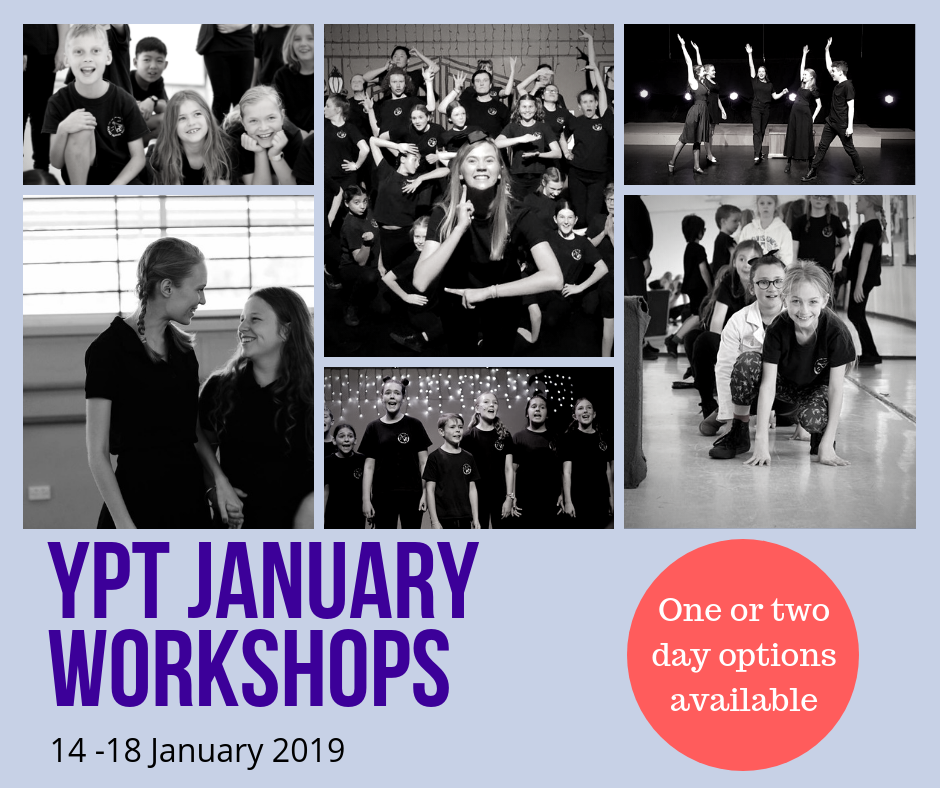 YPT JANUARY SCHOOL HOLIDAY WORKSHOPS