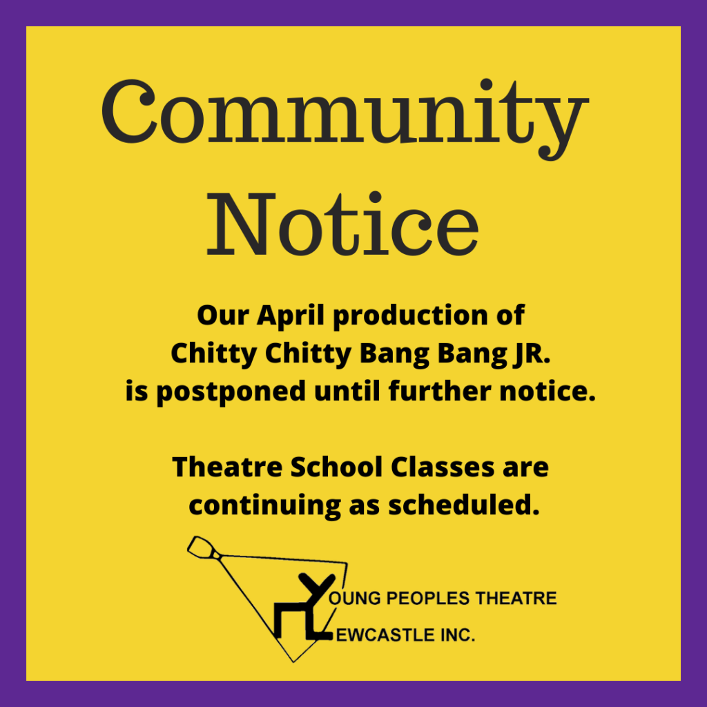 Chitty Chitty Bang Bang Jr Postponed